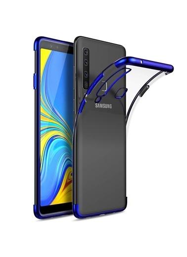 Microsonic Samsung Galaxy A9 2018 Kılıf Skyfall Transparent Clear  Mavi